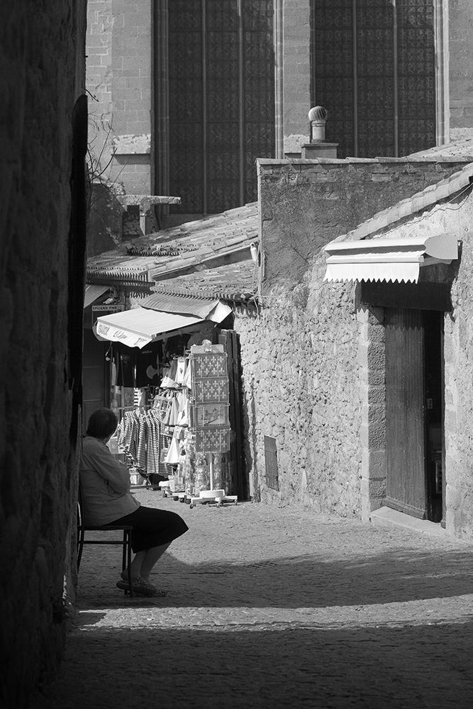Abb. 9: ´Alte Frau im touristischen Carcassonne´ (Quelle: Eigenes Portfolio, 2009)