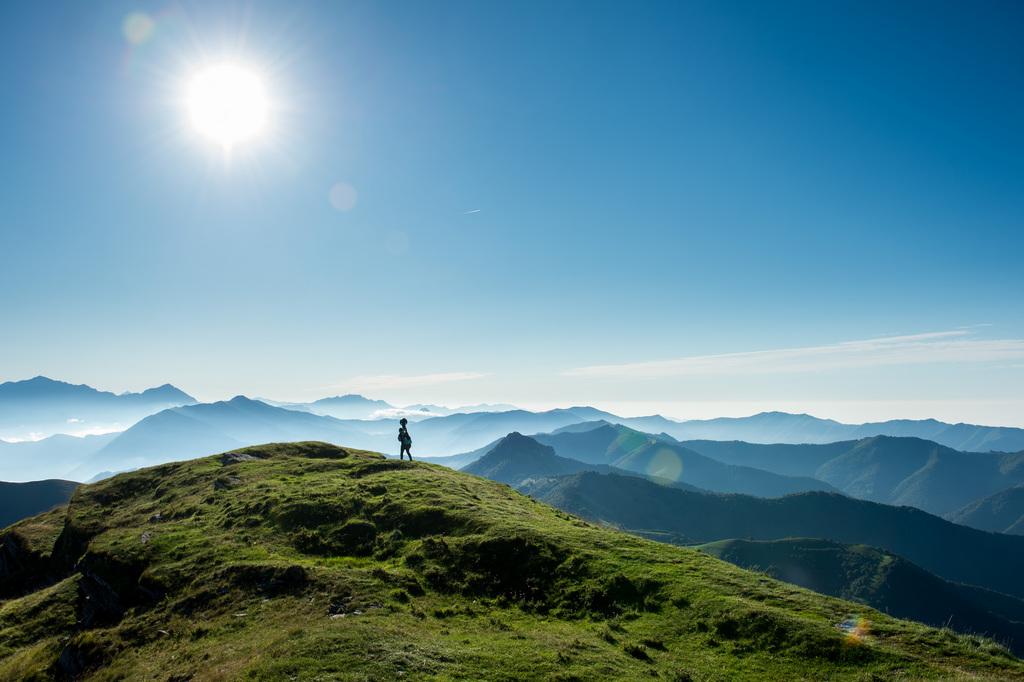 Mit dem Google-Trekker auf dem Monte Generoso (Keystone/Gabriele Putzu)