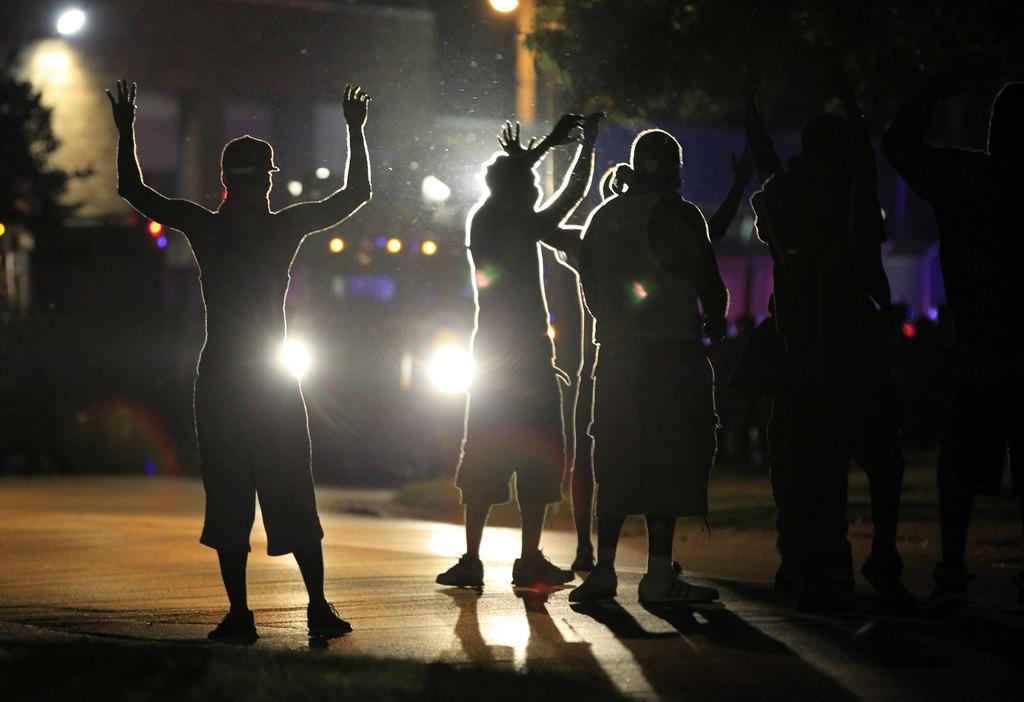Menschen in Ferguson, USA (Keystone/AP Photo/Jeff Roberson)