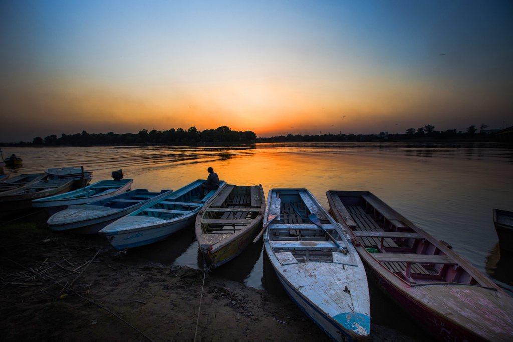 Sonnenuntergang in Lahore, Pakistan (Keystone/EPA/Omer Saleem)