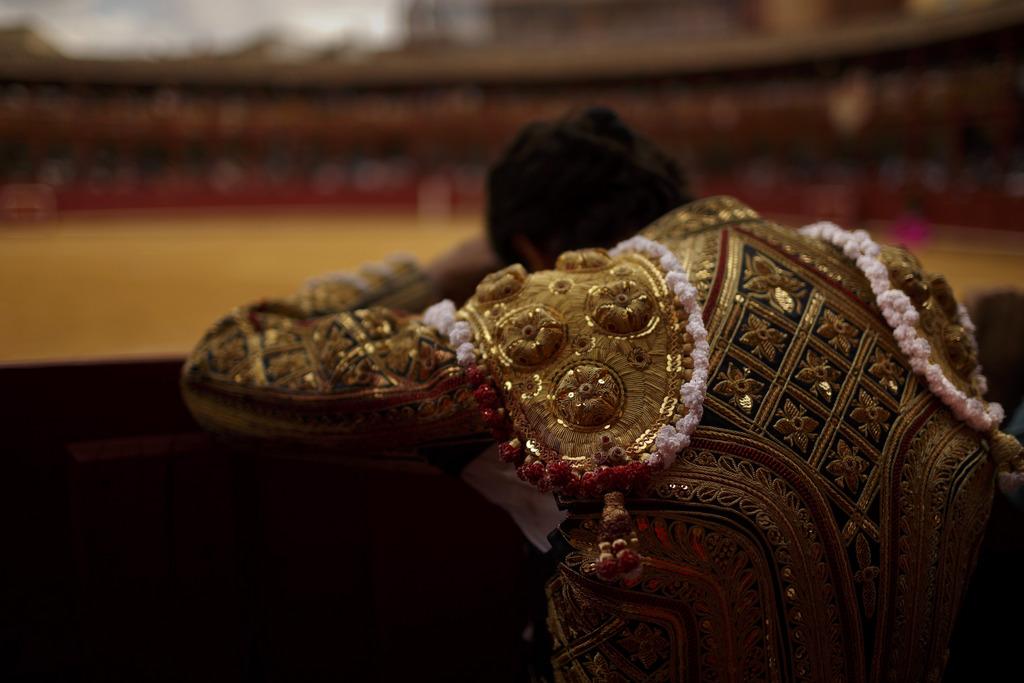 Stierkampf in Toro Spanien (Keystone/AP Photo/Daniel Ochoa de Olza)