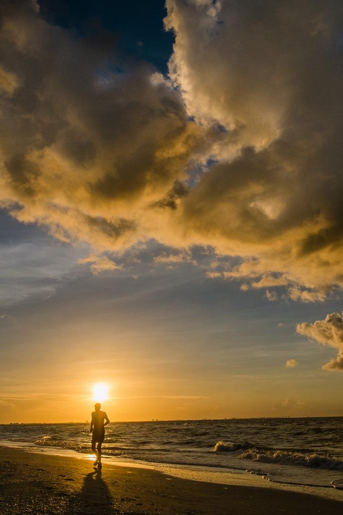 Joggen auf Sanibel Island, USA (Keystone/AP Photo/J. David Ake)