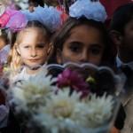 Fotografien aus 24 Stunden: Schulbeginn