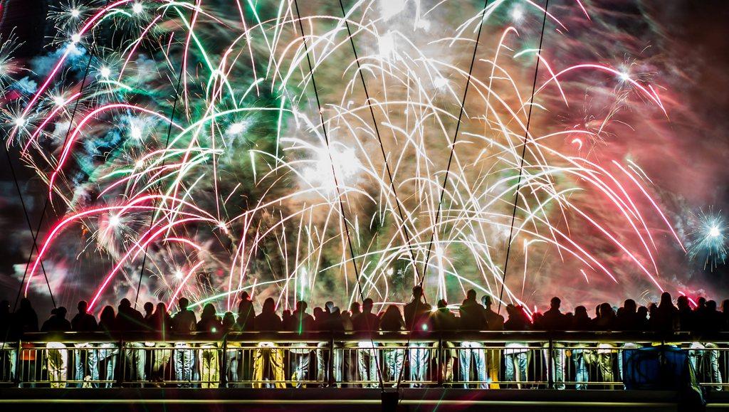 Feuerwerk in Frankfurt/Main D, KEYSTONE EPA/Frank Rumpenhorst