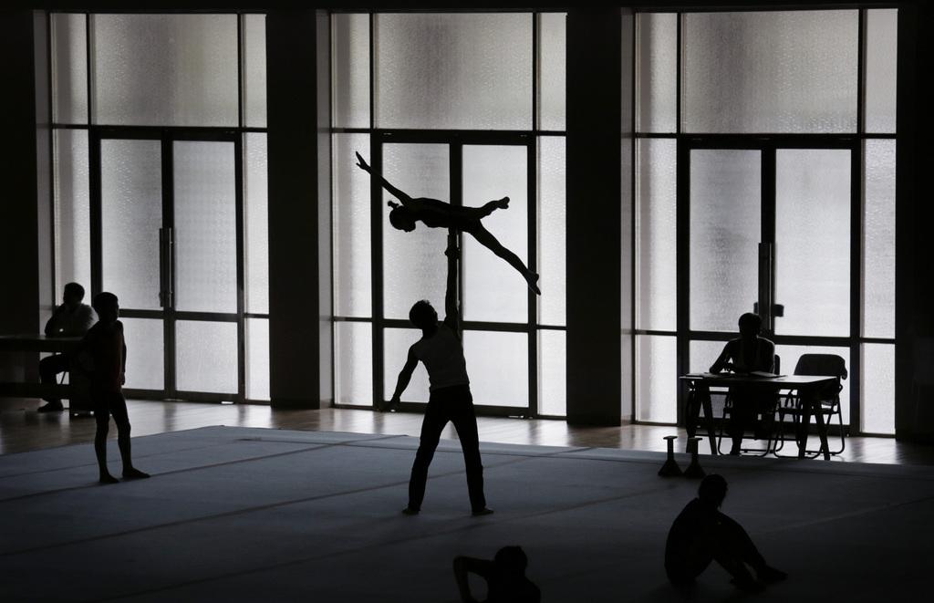 Athleten in Nordkorea beim Training, Pjöngjang (AP Photo/Wong Maye-E)