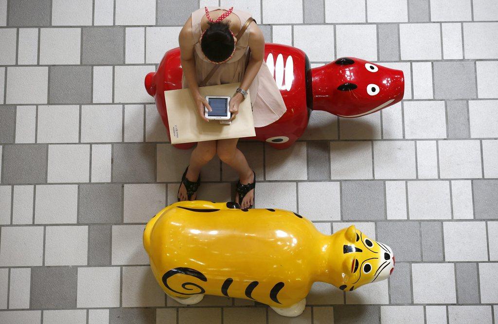 In einem Einkaufszentrum in Bangkok, Thailand (Keystone/EPA/Barbara Walton)
