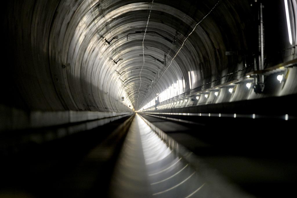 Der Neat Tunnel bei Amsteg, Schweiz (Keystone/Urs Flueeler)