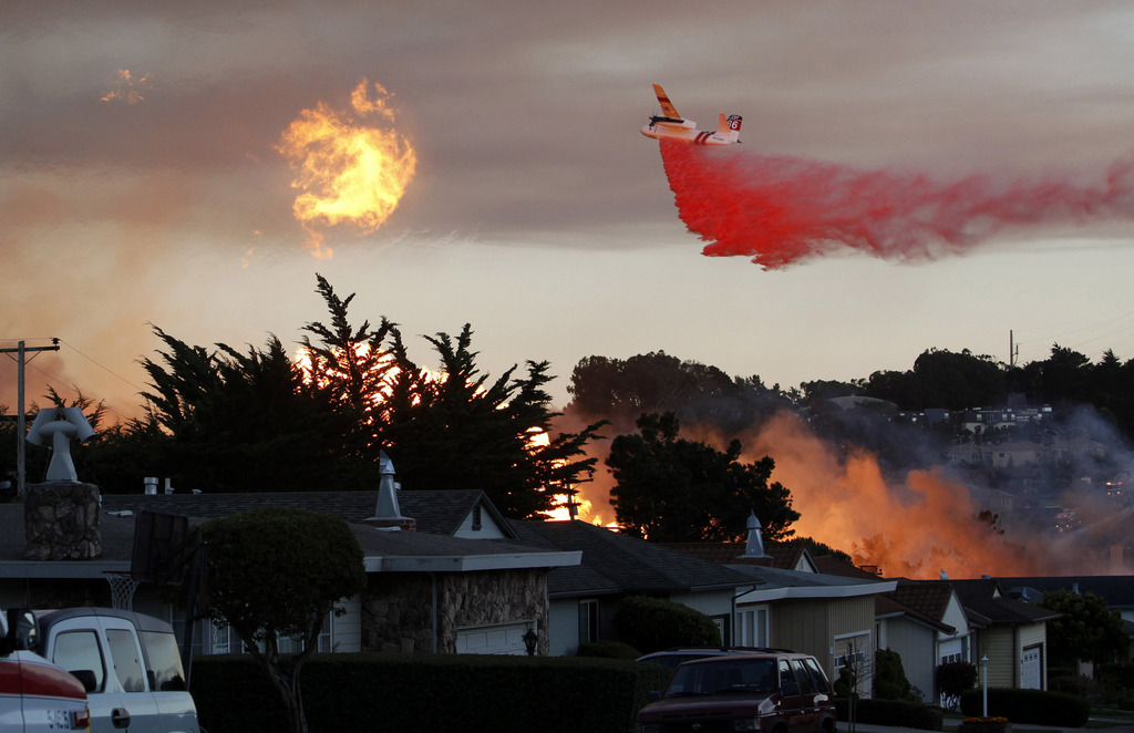 Gasexplosion in San Bruno, USA (Keystone/AP Photo/Jeff Chiu)