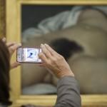 """Gustav Courbets """"L'Origine du monde"""" in Riehen, Schweiz (Keystone/Patrick Straub)"""