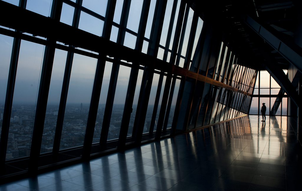 Im neuen Leadenhall Building in London, Großbritannien (Keystone/EPA/Will Oliver)
