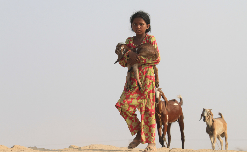 Mädchen in Jhang, Pakistan (Keystone/AP Photo/K. M. Chaudary)