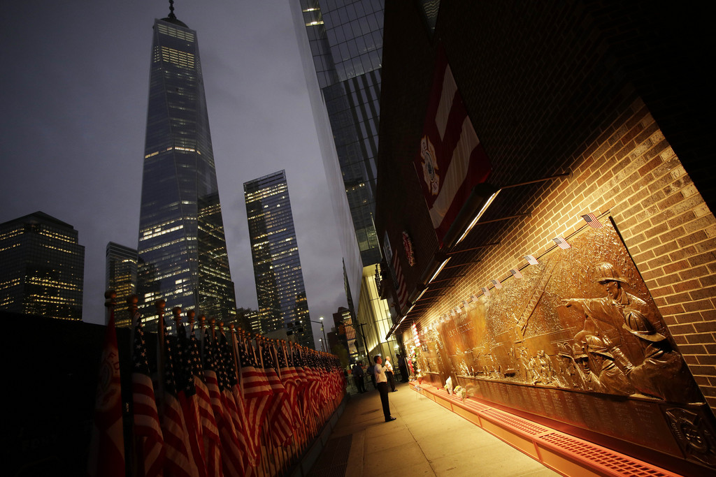 Erinnerung an den 11. September in New York, USA (Keystone/AP Photo/Mark Lennihan)