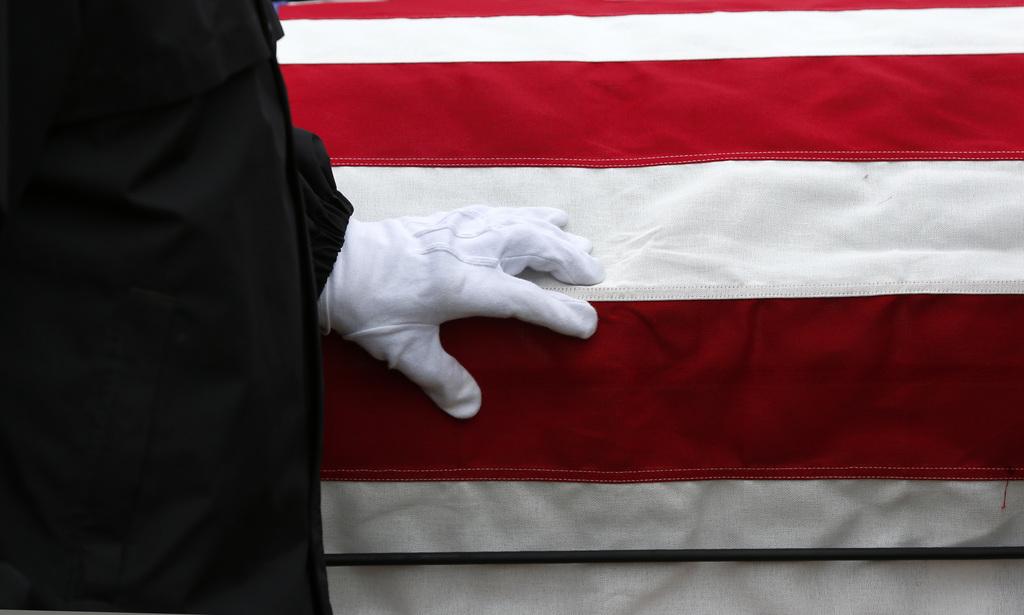 Gedenken an gefallene Soldaten in Holly Township, USA (Keystone/AP Photo/Paul Sancya)