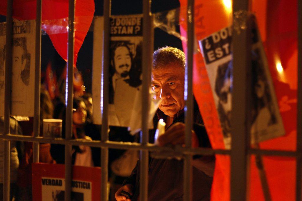 Gedenken an den Putsch vor 41 Jahren in Santiago, Chile (Keystone/EPA/Sebastian Silva)