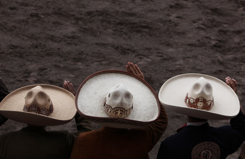 Charros - Comboys in Mexiko bei einem Fest  (AP Photo/Marco Ugarte)