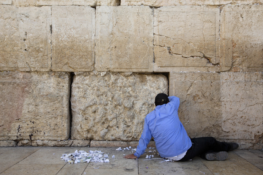 An der Klagemauer in Jerusalem, Israel (Keystone/AP Photo/Sebastian Scheinet)