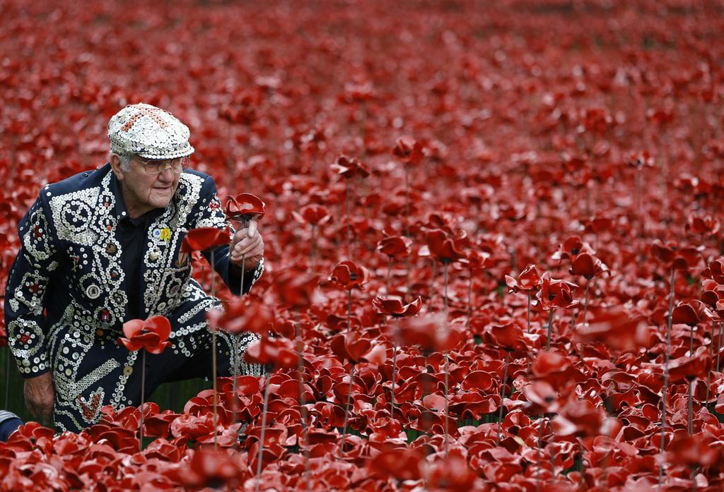 Gedenken an den Zweiten Weltkrieg in London, Großbritannien (Keystone/AP Photo/Kirsty Wigglesworth)