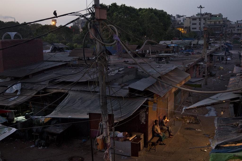 Morgenstimmung in Neu Delhi, Indien (AP Photo/Bernat Armangue)