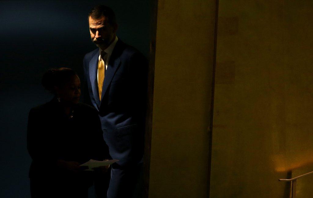 König Felipe VI von Spanien auf dem Weg zur Vollversammlung der UNO in New York, USA (Keystone/EPA/Justin Lane)