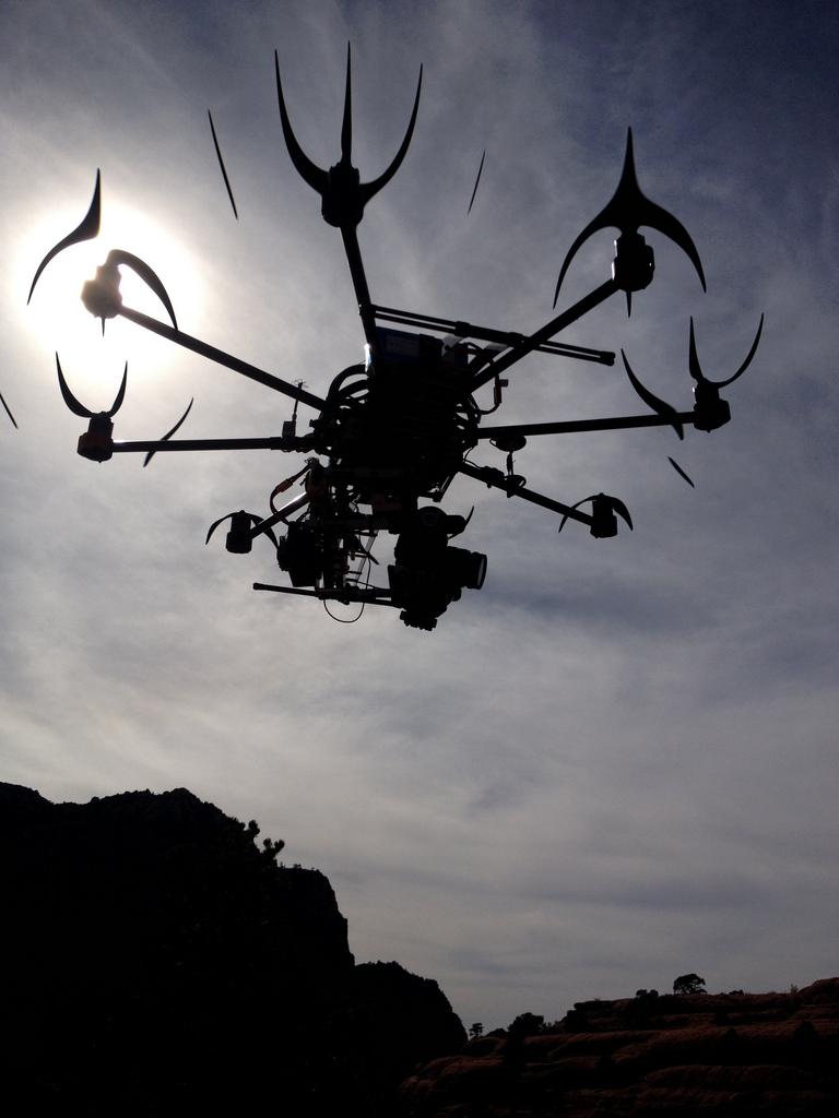 Drohne über San Diego, USA (Keystone/AP Photo/Tony Carmen)
