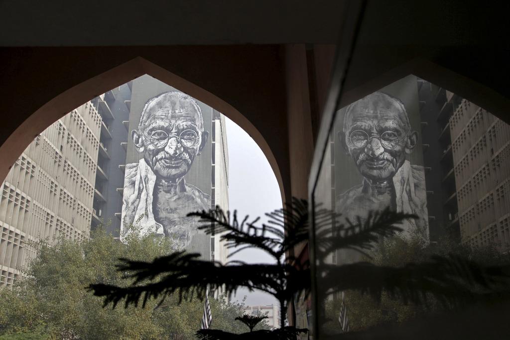 Gedenken an Mahatma Gandhi in Neu Delhi, Indien (Keystone/AP Photo/Tsering Toggyal)