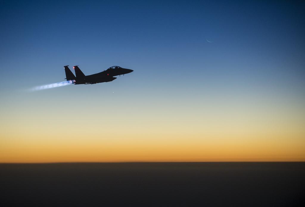 Einsatz über Nord-Irak (Keystone/AP Photo/Matthew Bruch)