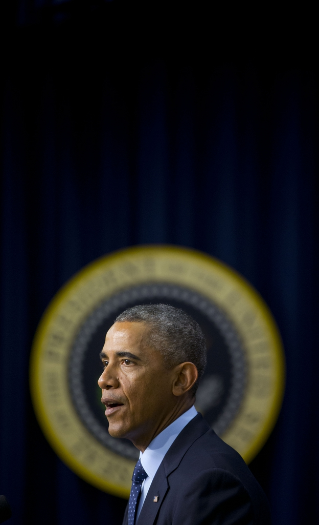 «Strahlenkranz» für Barack Obama in Washington, USA (Keystone/AP Photo/Pablo Martinez Monsivais)
