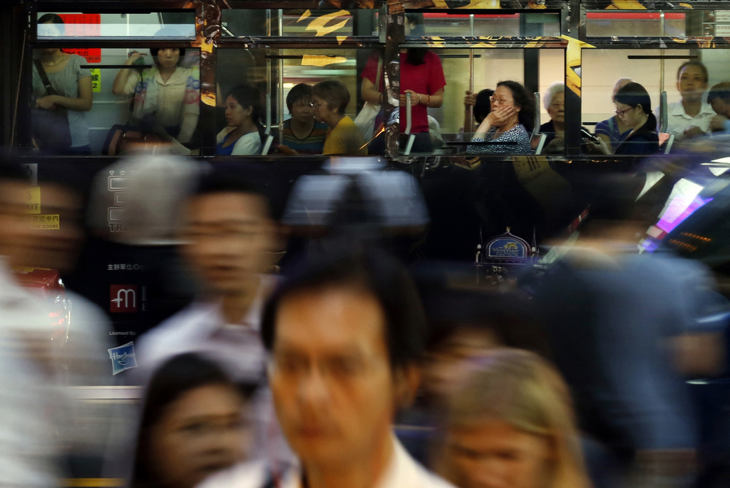 Rushhour in Hongkong, China (AP Photo/Kin Cheung, File)