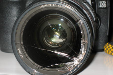 Geborstener Kamerafilter {Flickr CC;https://flic.kr/p/3d9TC3}
