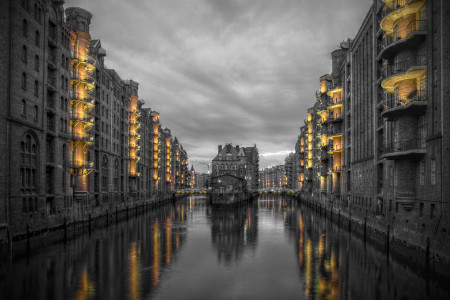 Hambuger Speicherstadt in Color-Key (c) Andreas Feser