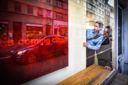 Vernissage Foto Schaufenster Spiegelung