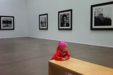 Kleinkind in Ausstellung: Vergleichsfoto mit Vignette