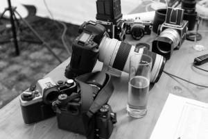 Kameras und Bier