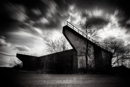 Trophäenbild Brückenkopf Langzeitbelichtung