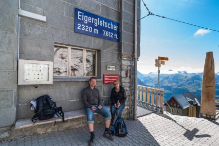 Eigergletscher, Station, Bahn, Pause