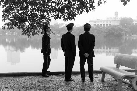 Polizei, See, Vietnam, Hanoi