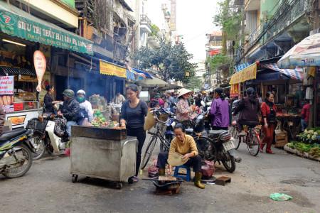 Hanoi, Straße, Küche, Händler