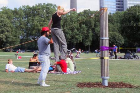 Slacklining, Colonius, Köln, Sport