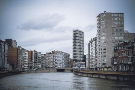 Lüttich, Wasser, Kanal, Häuser