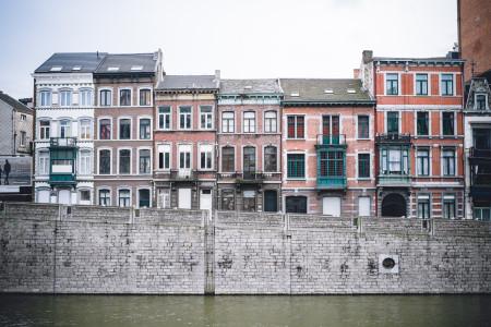 Lüttich, Wasser, Häuser, Kanal
