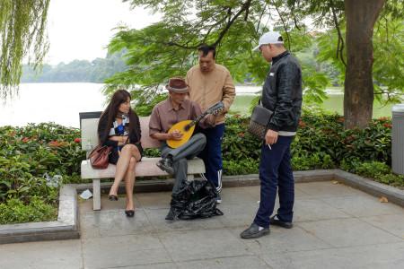 Musik, Musiker, Vietnam, Hanoi