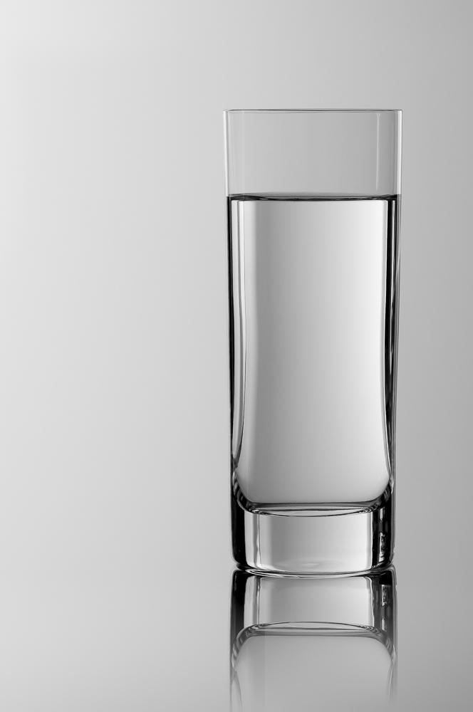 Wasserglas, Studiofotografie