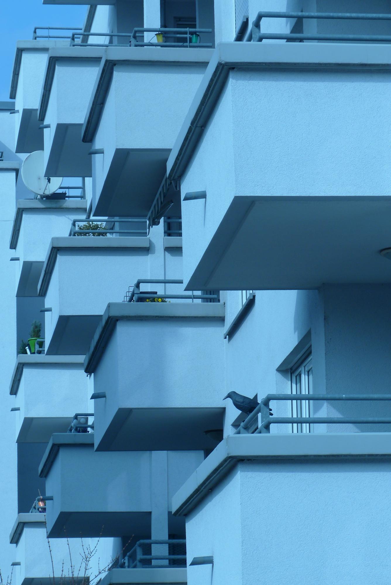 Stadtansicht in Blaustich