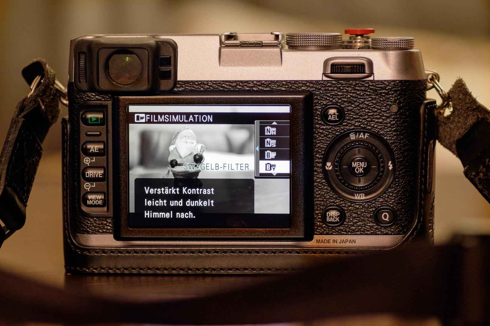 Schwarz-Weiß-Filmsimulation bei einer meiner Kameras