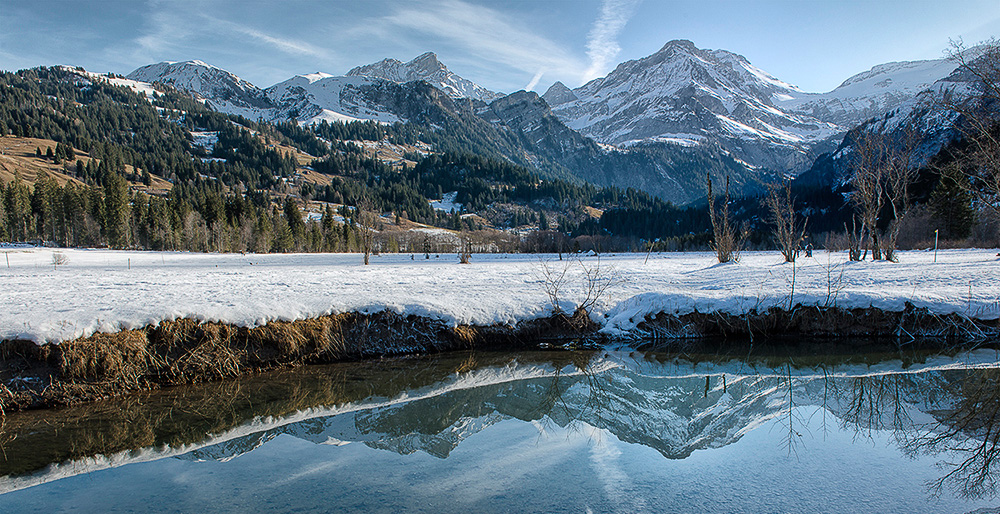 Berner Oberland im Winter, Landschaftsfotografie