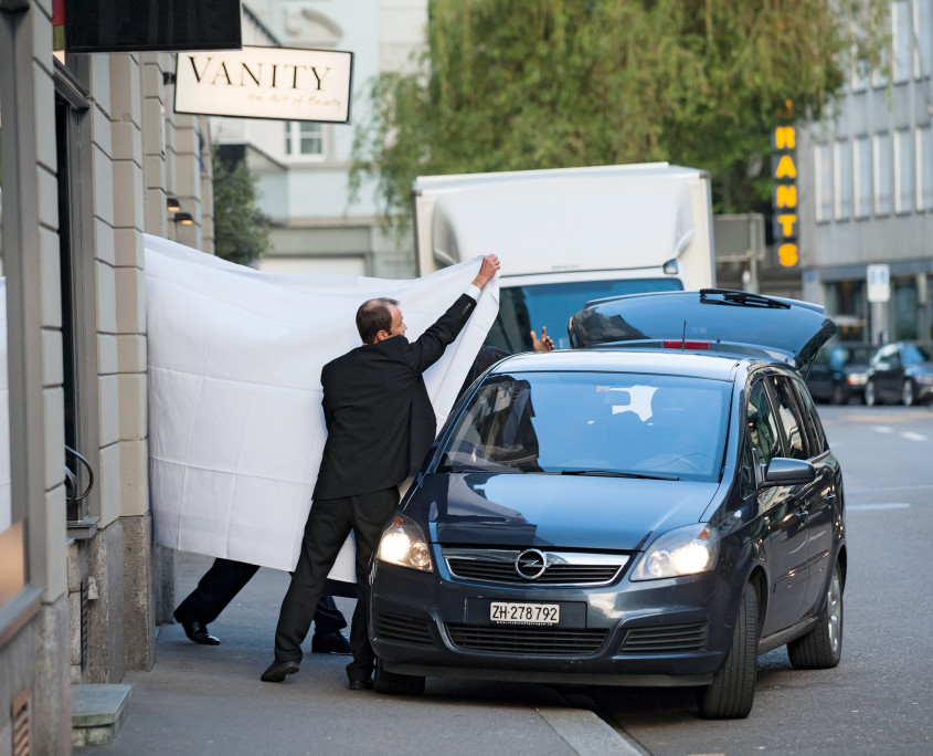 """Zurich, 27.05.2015 Several top FIFA officials are being arrested by Swiss authorities, outside the five-star hotel """"Baur au Lac"""" in Zurich, Switzerland, early Wednesday morning, May 27th 2015 Photo by Pascal Mora"""