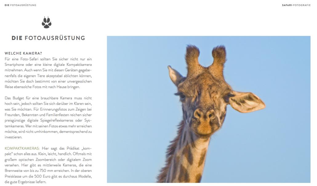 Genau hinsehen und Hinhören: Safari-Fotobuch von © Werner Schmäing.