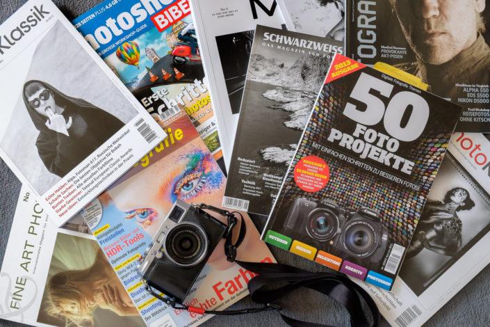 Einige aktuelle Fotozeitschriften