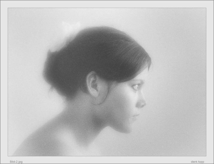 Mein erstes richtiges Portrait 1968 (von meiner späteren Frau), Kodacolor X, Edixa Reflex, Vaseline Weichzeichner - (c) Dierk Topp