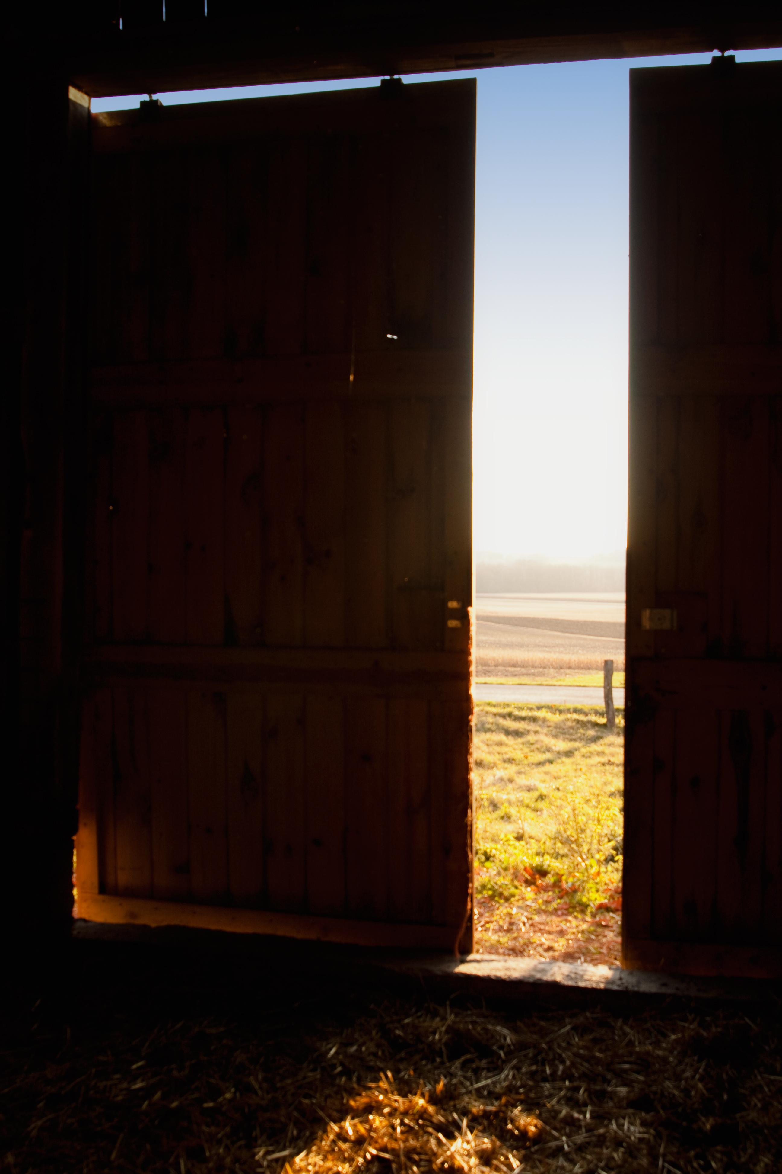 Blick durch die Scheunentür, Muddy Fork Farm - (c) Sofie Dittmann